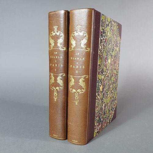 DIABLE À PARIS (Le). Paris et les Parisiens. Paris, J. Hetzel, 1845. 2 volumes g…