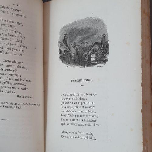 CHANTS ET CHANSONS DE LA BOHÊME. Paris, J. Bry aîné, 1853. In 12, bradel demi to…
