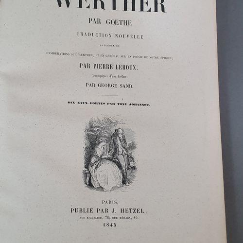 GOETHE. Werther. Traduction nouvelle [...] Accompagnée d une Préface par George …