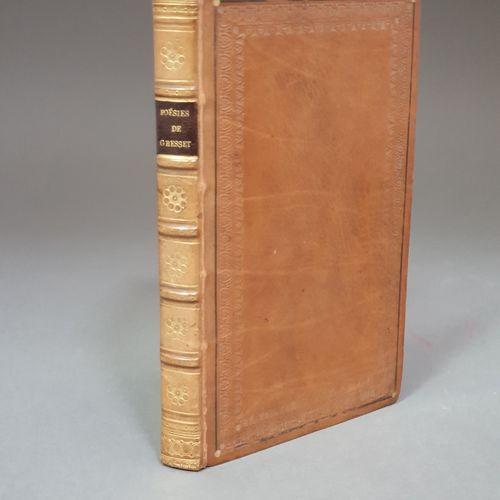 GRESSET. Poésies choisies. Paris, Stéréotype Renouard, XI (1802). In 12, veau gl…