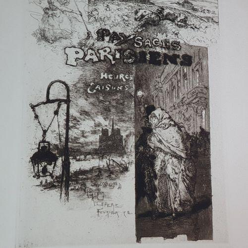 GOUDEAU (Émile). Paysages parisiens. Heures et saisons. Paris, Imprimé pour Henr…
