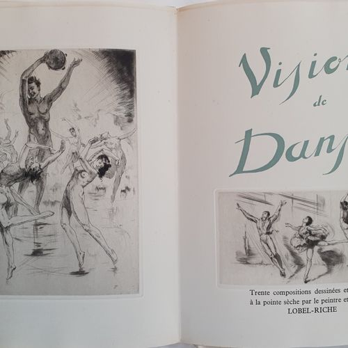 BILLY (André). Visions de danse. Paris, Chez l Auteur, 1949. In 4, in sheets, co…