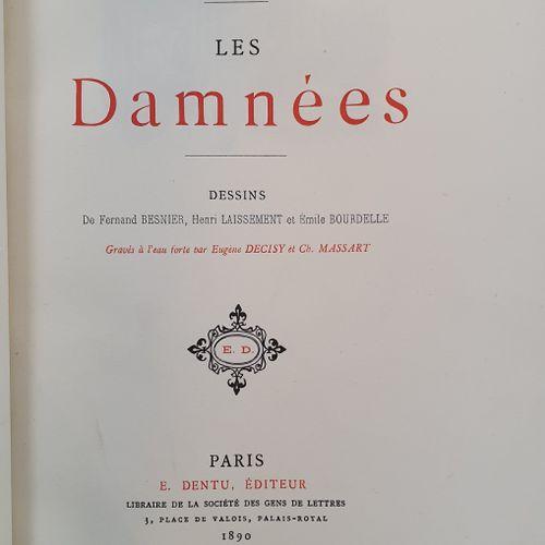 BOIS (Georges). Les Damnées. Paris, E. Dentu, 1890. In 8, aubergine half maroqui…
