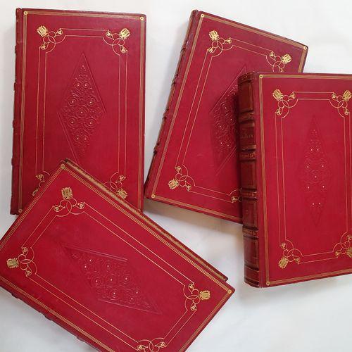 BÉRANGER. Iuvres complètes. Paris, Perrotin, 1834. 4 volumes in 8, veau glacé ro…