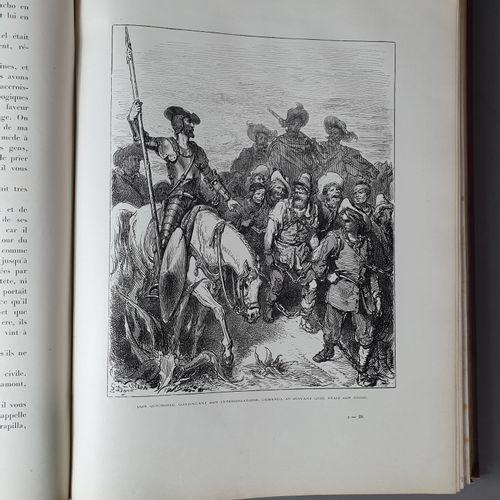 CERVANTÈS (Miguel de). Don Quichotte. Paris, Hachette, 1869. 2 volumes in folio,…