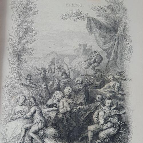 CHANTS ET CHANSONS POPULAIRES DE LA FRANCE. Paris, Delhoye, Garnier, s.D. [1843]…