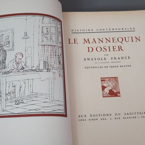 FRANCE (Anatole). Ensemble 6 ouvrages en 6 volumes in 4, demi maroquin rouge ave…