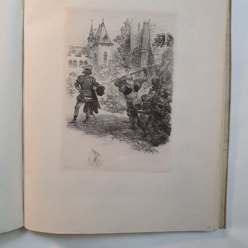 BALZAC (Honoré de). La Connestable. Conte imagé, gravé et enluminé par Albert Ro…