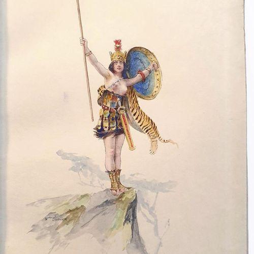 HENNIQUE (Nicolette). Les Douze labeurs héroïques. Préface de Mme Alphonse Daude…