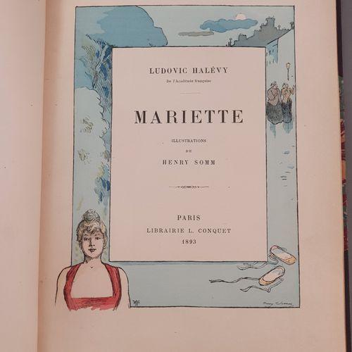 HALÉVY (Ludovic). Mariette. Paris, L. Conquet, 1893. In 8, demi maroquin aubergi…