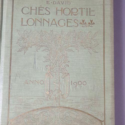 DAVID (Édouard). Chés Hortillonnages. Amiens, Imprimerie picarde, 1900. In 4, br…