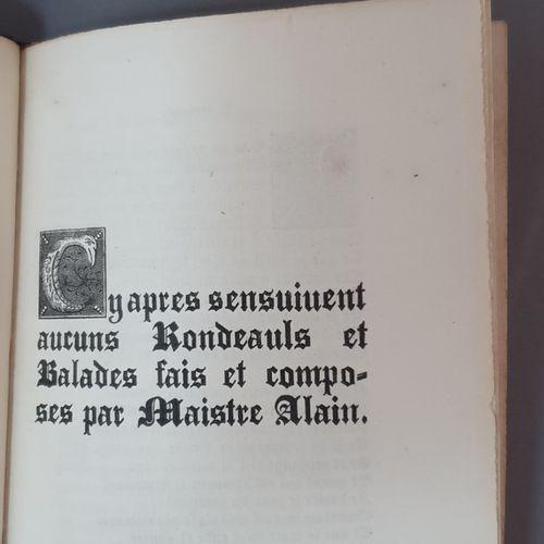 CHARTIER (Alain). Rondeaux et ballades inédits. Publiés d après un manuscrit de …