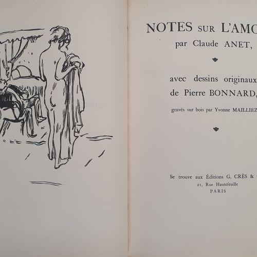 ANET (Claude). Notes sur l amour. Paris, Georges Crès & Cie, 1922. In 4, demi ma…