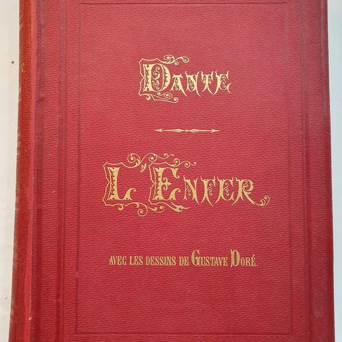 DANTE. La Divine comédie. Paris, Hachette et Cie, 1868. 2 volumes in folio, perc…