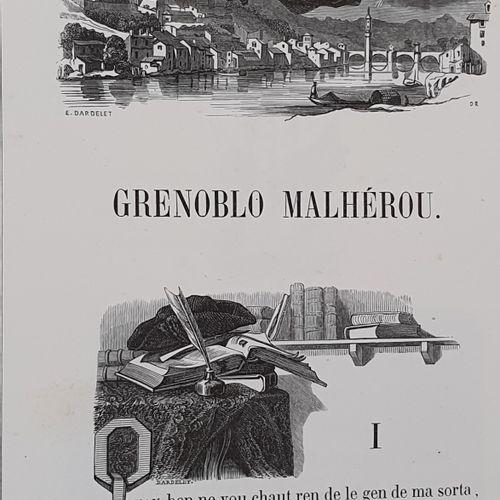BLANC (François). Poésies en patois du Dauphiné. Grenoblo Malhérou par Blanc dit…