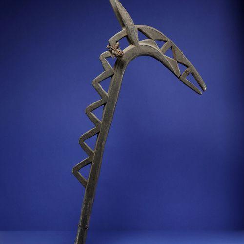Crosse yo domolo dite « bâton de voleur », représentant une tête de cheval styli…
