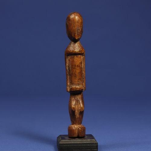 Charmante statuette janus. Bois à patine miel. Lobi, Burkina Faso. H. 14,5 cm. P…