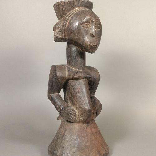 Statue pilon Luba Hemba, République Démocratique du Congo  Bois à patine brun fo…