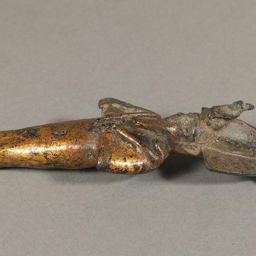 Osiris  Bronze partiellement doré. Pieds manquants. Sourcils incrustés d argent.…