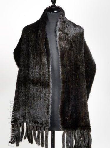 ANONYME ETOLE en vison tricoté (120 x 40 cm)