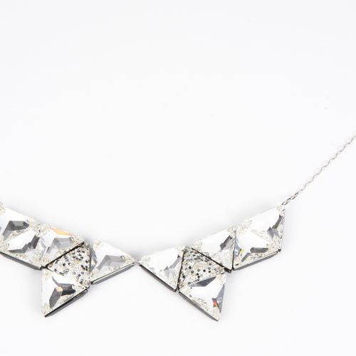 SWAROVSKI Hinged NECKLACE made up of triangles enhanced with crystals and rhines…