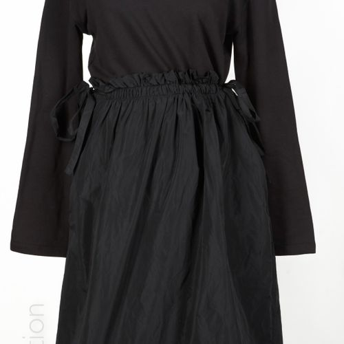 COS, D&G DOLCE & GABBANA, MAX MARA, ANONYME DRESS in black cotton and artificial…