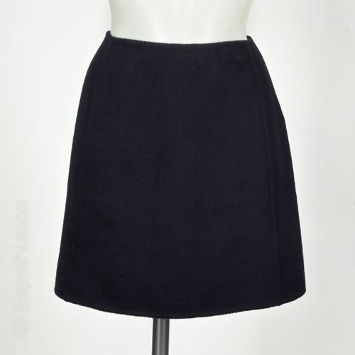 MARNI Short flared skirt in wool, angora and navy cashmere (T 46 it is T 42)