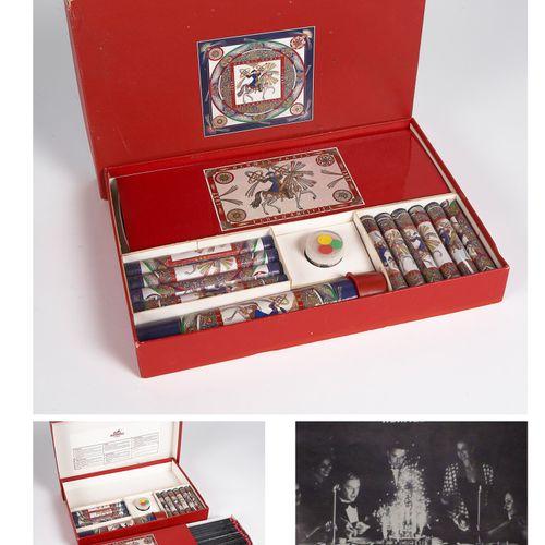 "HERMES (PRINTEMPS ETE 1987) Anniversary fireworks box ""ARTIFICIAL FIREWORKS"" com…"
