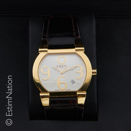 FRED Référence FD014150 MONTRE DE DAME OR JAUNE Ladies' watch in 18K yellow gold…