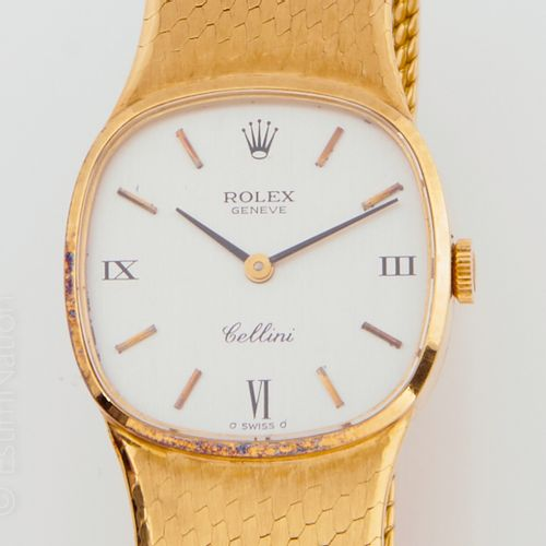 "ROLEX ROLEX ""Cellini""  Watchband in 18k (750 thousandths) yellow gold. Champagne…"