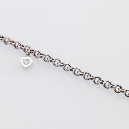 "CHOPARD CHOPARD Happy Diamond"" 18K (750 thousandths) white gold bracelet with ch…"