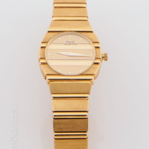 "PIAGET PIAGET ""Polo""  Bracelet watch in 18 K (750 thousandths) yellow gold. Gadr…"