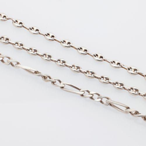 BIJOUX ARGENT Set of six silver bracelets (925/°°) including :   three bracelets…