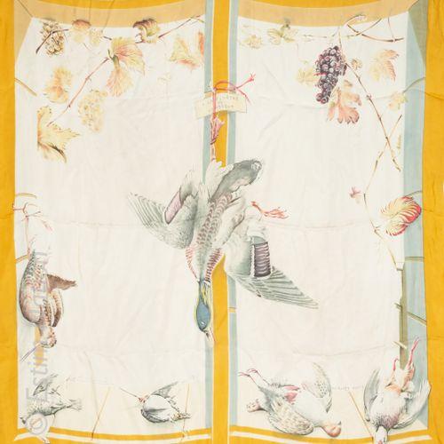 """HERMES PARIS PAR HENRI DE LINARES CARRE in printed silk titled """"A La Fenêtre Du …"""