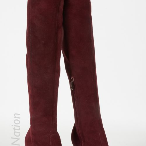 L'AUTRE CHOSE, MANGO, GIANVITO ROSSI THREE PAIRS OF HIGH BOOTS : the first one i…