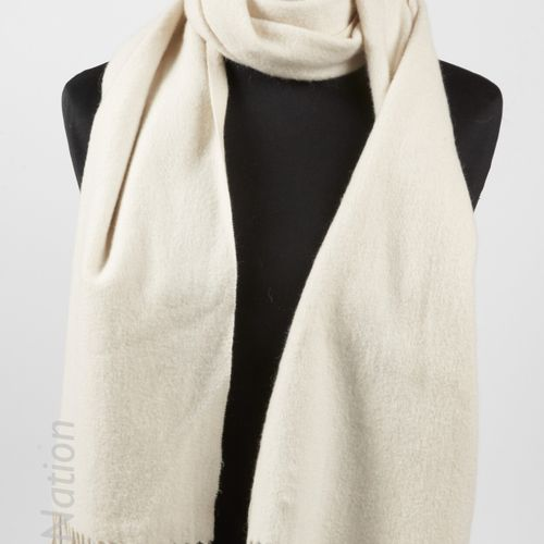 ERIC BOMPARD, ANONYME Cashmere fringed scarf, scarf or belt in mohair angora kni…