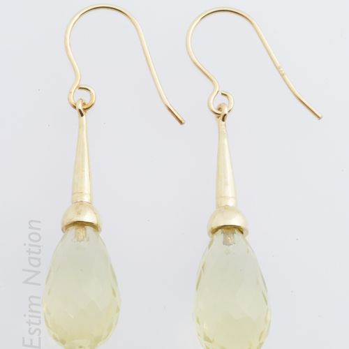 PENDANTS D'OREILLE VERMEIL Pair of pendants of ears in vermeil (925 thousandths)…