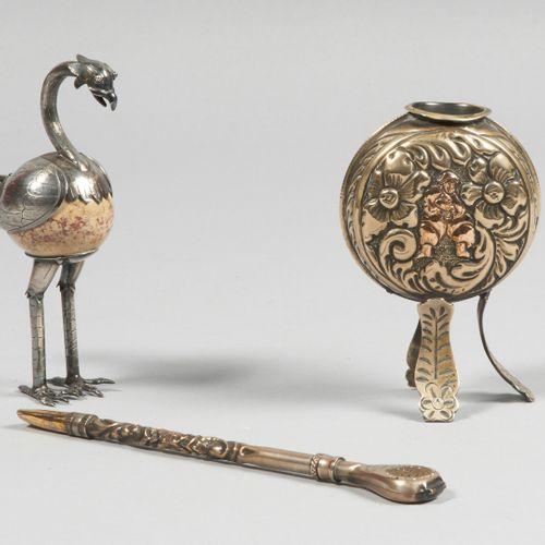 MEXIQUE Sujet figurant un oiseau la tête et les pattes en argent 825 millièmes à…