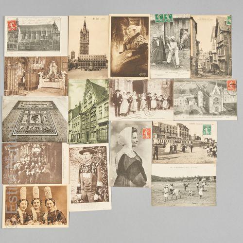 CARTES POSTALES Réunion d'environ cinq cent cartes postales, sur le thème des Ré…