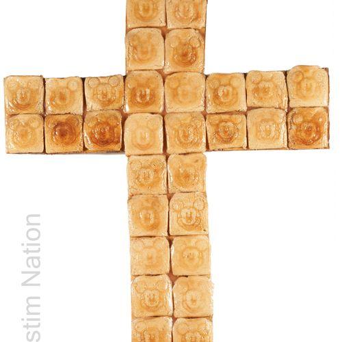 ART CONTEMPORAIN HELDER BATISTA Helder BATISTA (1964)    Crucifix toast Mickey M…