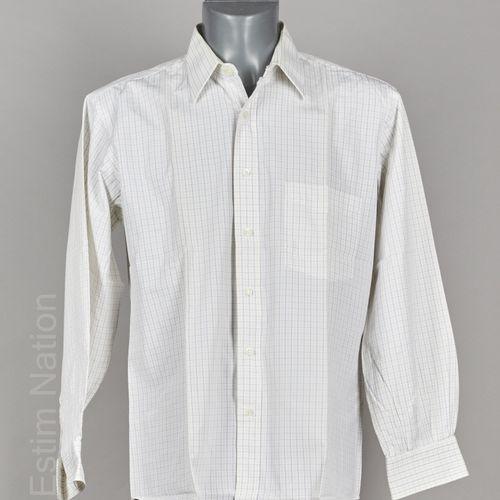 ALAIN FIGARET QUATRE CHEMISES en coton rayées, à carreaux, bleu et blanc (T 17/4…
