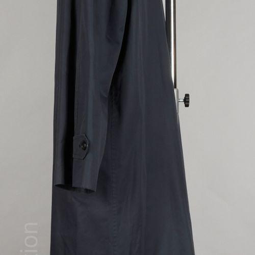 BURBERRY'S PARDESSUS en coton et polyester marine, doublure tartan, deux poches …