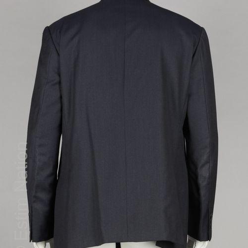 CALVIN KLEIN VESTE en laine vierge façonnée bleu nuit, trois poches (T 54) (mini…