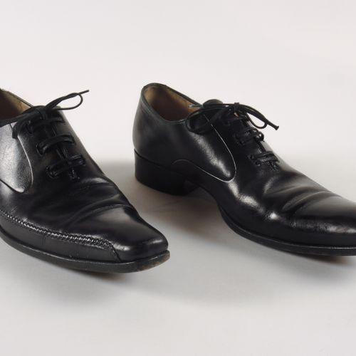GERARD SENE PAIRE DE SOULIERS à lacets en cuir noir surpiqué sur le côté (P 7,5 …