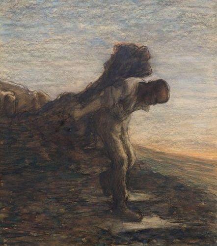 GIOVANNI SEGANTINI (Arco 1858–1899 Pontresina) L'ultima fatica del giorno (The l…