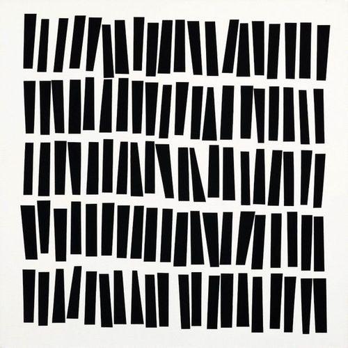 *VERA MOLNÁR (Budapest 1924–lives and works in Paris) 100 trapèzes. 1976. Acryli…