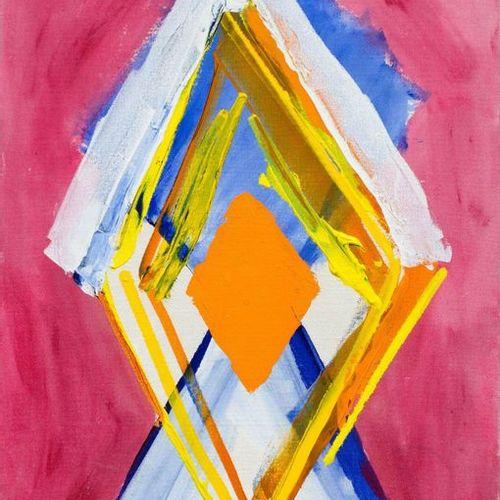 KIMBER SMITH (Boston 1922–1981 East Hampton) Orange Center. 1996. Acrylic on can…