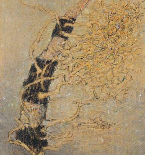 *ZORAN MUSIC (Bukovica 1909 2005 Venice) Motivo vegetale. 1972. Acrylic on canva…