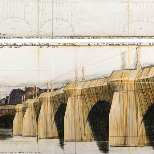 CHRISTO (VLADIMIROV JAVACHEFF) (Gabrovo 1935–2020 New York) The Pont Neuf, Wrapp…