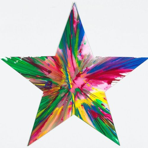 DAMIEN HIRST (Bristol 1965–lives and works in Devon) Star Spin Painting. 2009. A…